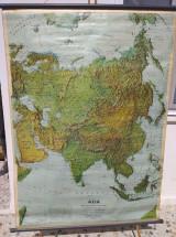 Γεωφυσικος χαρτης διπλης οψης Ασια